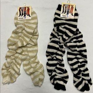 2 Pair Knit Leg Warmers